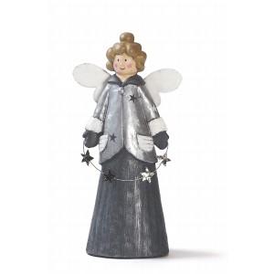 Anjel s hviezdou sivý 40cm 26017