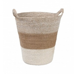 Košík z morskej trávy s rúčkami trojfarebný 31130