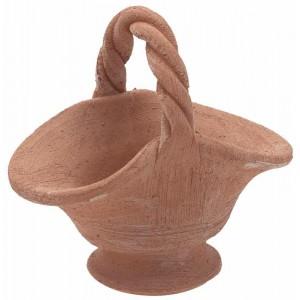 Terakotový kvetináč v tvare košíka 30834
