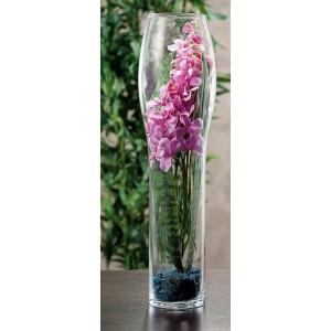 Váza sklo 19x70cm 27846
