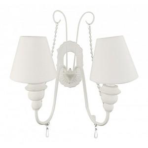 Lampa dvojka na stenu biela 25658