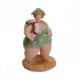 Žena v plavkách polyrezin 8x9x16cm 27605