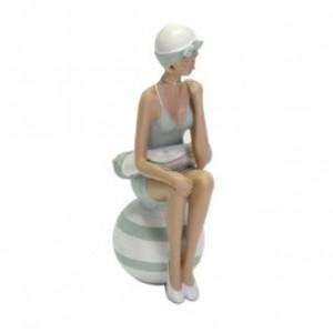 Žena v plavkách polyrezin 12,5x9,5x25,5cm 27606