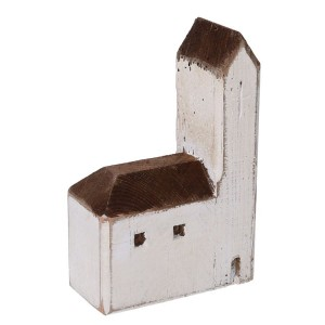 Kostol drevený bielo-hnedý 31591