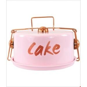 Dóza na koláče ružová 24x12cm 26521