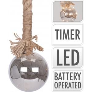 Osvetlenie 24 LED, špagát s guľou - dĺžka 1m 32051