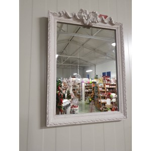 Zrkadlo vyrezávané biele 24571