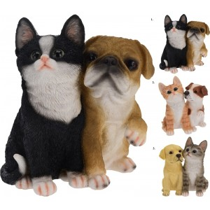 Mačka+pes polystone 26907
