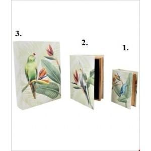 Krabica drevo papagáj 23x18x6cm 26532