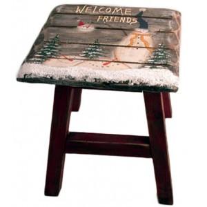 Stolička zimný motív 22x24cm 26148