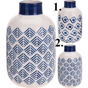 Váza keramika modro biela 16cm 26226