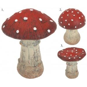 Huba - Muchotrávka keramická, červeno biela 28939