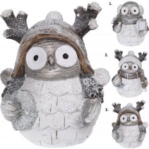 Sova keramika 17cm 25592
