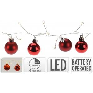 Svetelná červená reťaz LED 31723