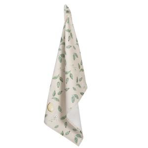 Bavlnená béžová utierka s dekorom citrónov a citrónových konárikov s listami 50x85 cm Clayre-Eef 33327