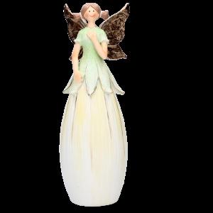 Dekorácia víla s motýlími krídlami a s šatami v tvare kvetu 34620
