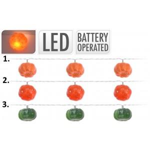 Tekvicová girlanda s LED osvetlením v troch prevedeniach 180 cm 35090