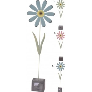 Kvetina kov + cement podložka 26247