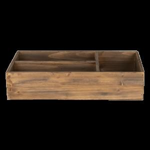 Drevená bednička s priehradkami Clayre & Eef 34561