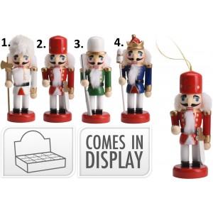 Drevený vianočný luskáčik 9 cm 35089