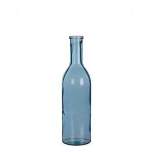 Fľaša sklenená modrá 34149