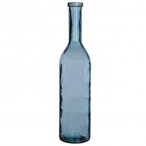 Fľaša sklenená váza modrá 100x21 cm 34147