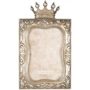 Fotorám vyhotovený v antickej zlatej farbe s dekorom korunky 14x1x24 cm Clayre-Eef 29286