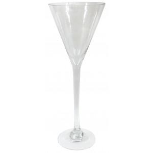 Váza sklo 19*19*50 cm 24171