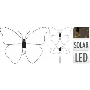 Motýľ, vážka - LED, solár 31013