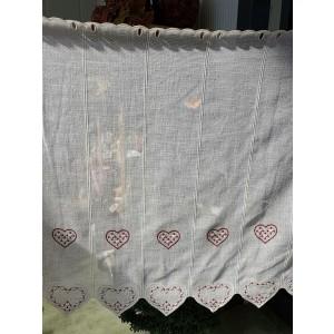 Záclona 90cm srdiečka 23085
