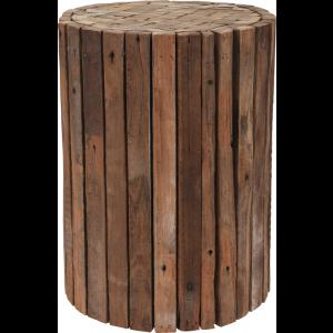 Stolík drevo teak okrúhly 25778