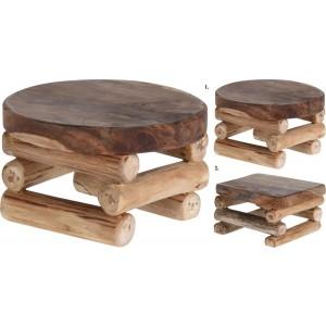 Stolík teak drevo 26264