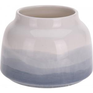 Keramická váza s modro bielym ombré vzorom 34317