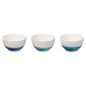 Keramická miska bielo modrá, tmavomodrá, alebo tyrkysová 14,5xH8,5 cm 33155