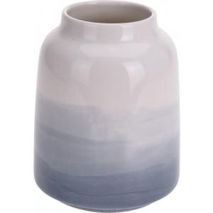 Keramická váza s modro bielym ombré vzorom 34318
