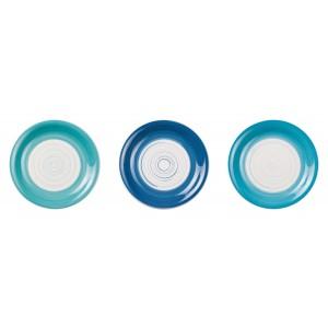 Keramický tanier bielo modrý, tmavomodrý, alebo tyrkysový 19,5 cm 33156