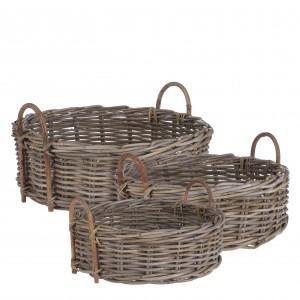 Košík ratanový okrúhly s rúčkou 34150