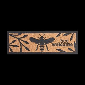 Kokosová rohožka s motívom včely a nápisom 24,8 x 75,5 x V 1 cm  Esschert design 34791
