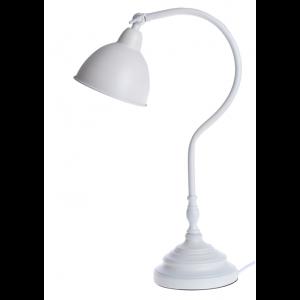 Kovová kancelárska biela stolná lampa s kovovým regulovateľným tienidlom 30 x 16 x 49 cm 35488
