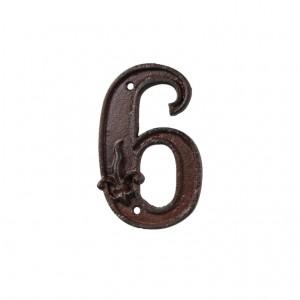 Kovové číslo 6 na dom 7,9x1,2x12,4 cm Esschert design