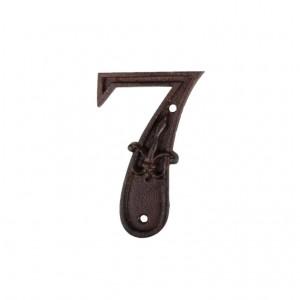 Kovové číslo 7 na dom 7,7x1,1x11,8 cm Esschert design