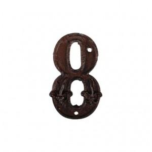Kovové číslo 8 na dom 7,8x1,1x12,6 cm Esschert design