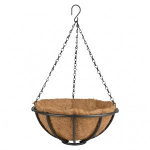 Kovový košík s kokosovou vložkou 30,5 cm Esschert design