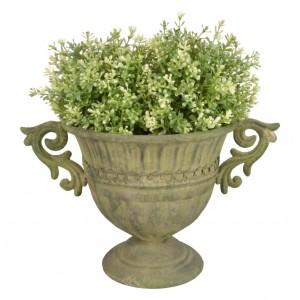 Kovový kvetináč zelená  patina 36,2x24,5x21,5 cm Esschert design