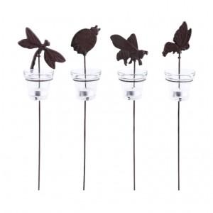 Kovový svietnik na čajovú sviečku vpich motýľ 41,5 cm Esschert design