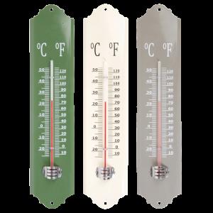 Kovový teplomer v troch farbách 1,2 x 6,8 x 30 cm Esschert design 34792