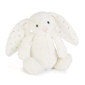 Krémový plyšový zajačik s hviezdičkami na uškách Jellycat Twinkle Stardust Bunny 31 cm 33489