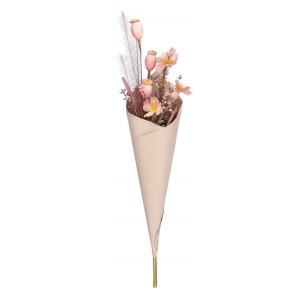 Kytica hnedých kvetov v kornútku 34134