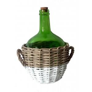 Fľaša 3,3 l v prútenom košíku 24208