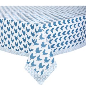 Obrus - vzor modré kury 100x100cm 29264